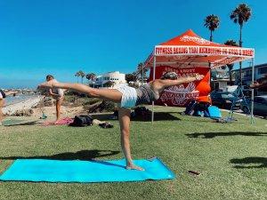Beachside Yoga Pic American Boxing San Diego
