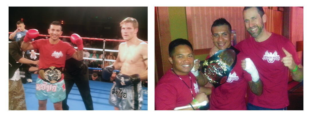 Team Nielsen fighter Francisco Garcia wins Muay Thai Championship belt