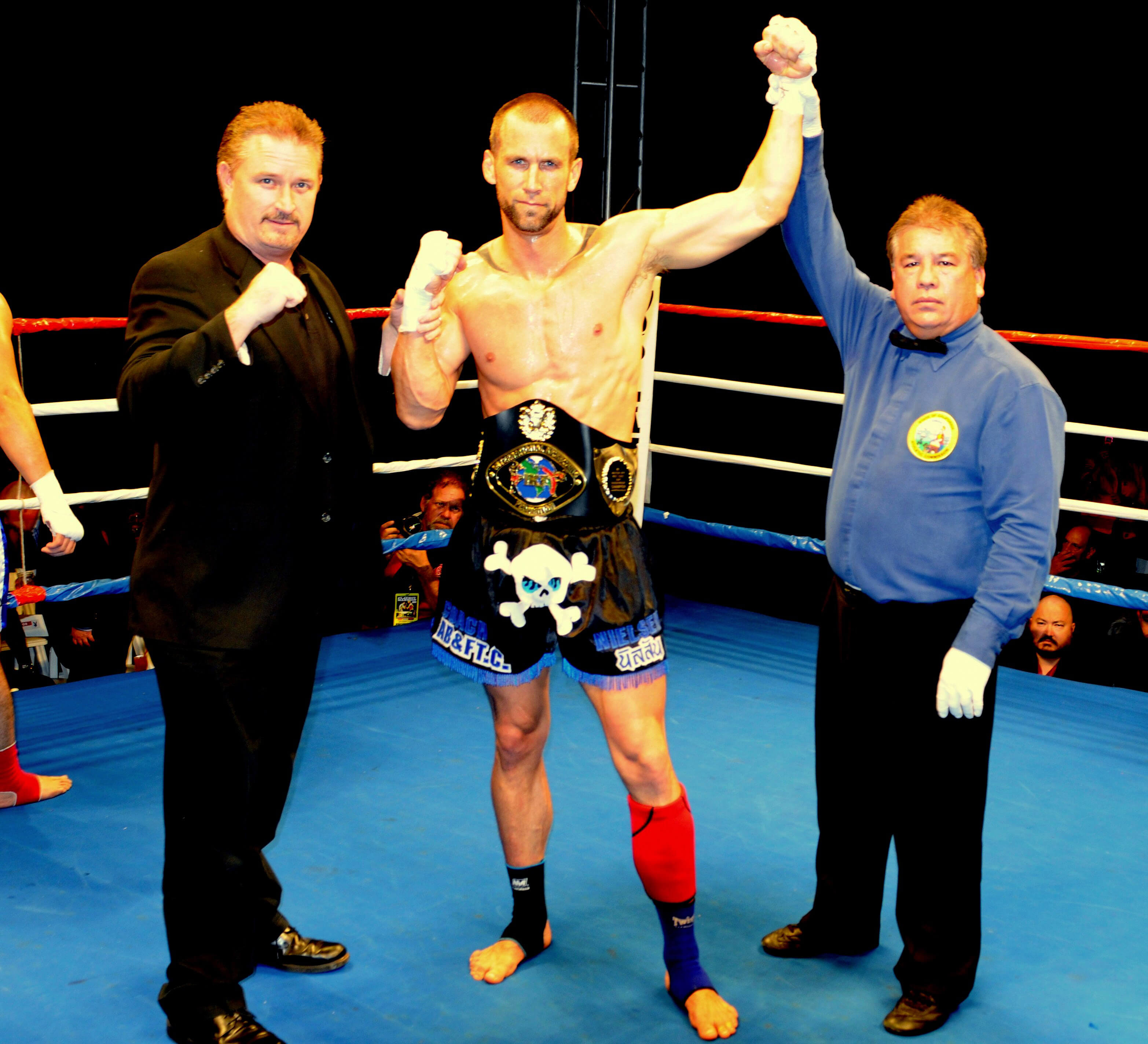 Coach Dave Nielsen wins IKF Muay Thai Championship at The Playboy Mansion