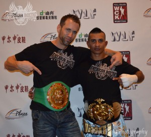 WBC champion Kru Dave with his Champion Francisco Garcia