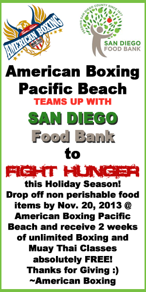 American Boxing Pacific Beach San Diego Food Bank Drop Off Location