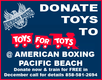 Donate to Toys for Tots at American Boxing Pacific Beach and train for Free in December 2012
