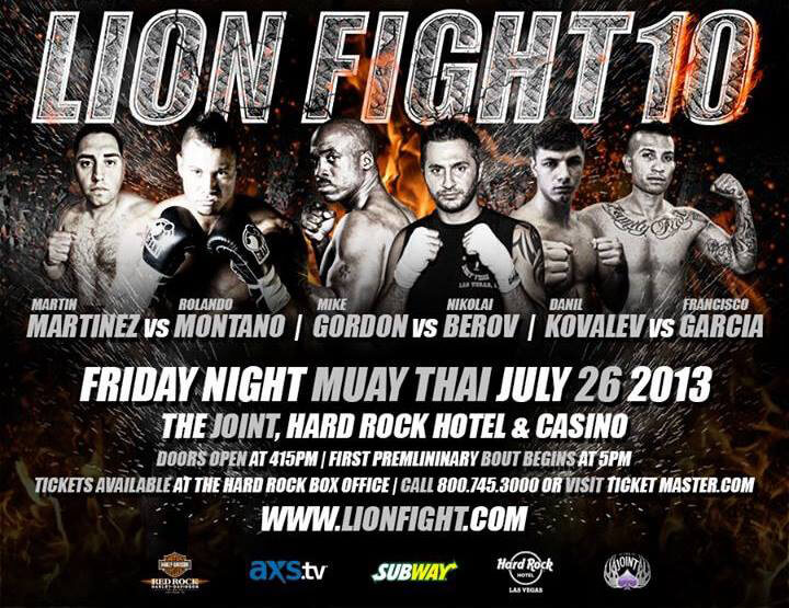 July 10 2013 Lion Fight 10 Poster
