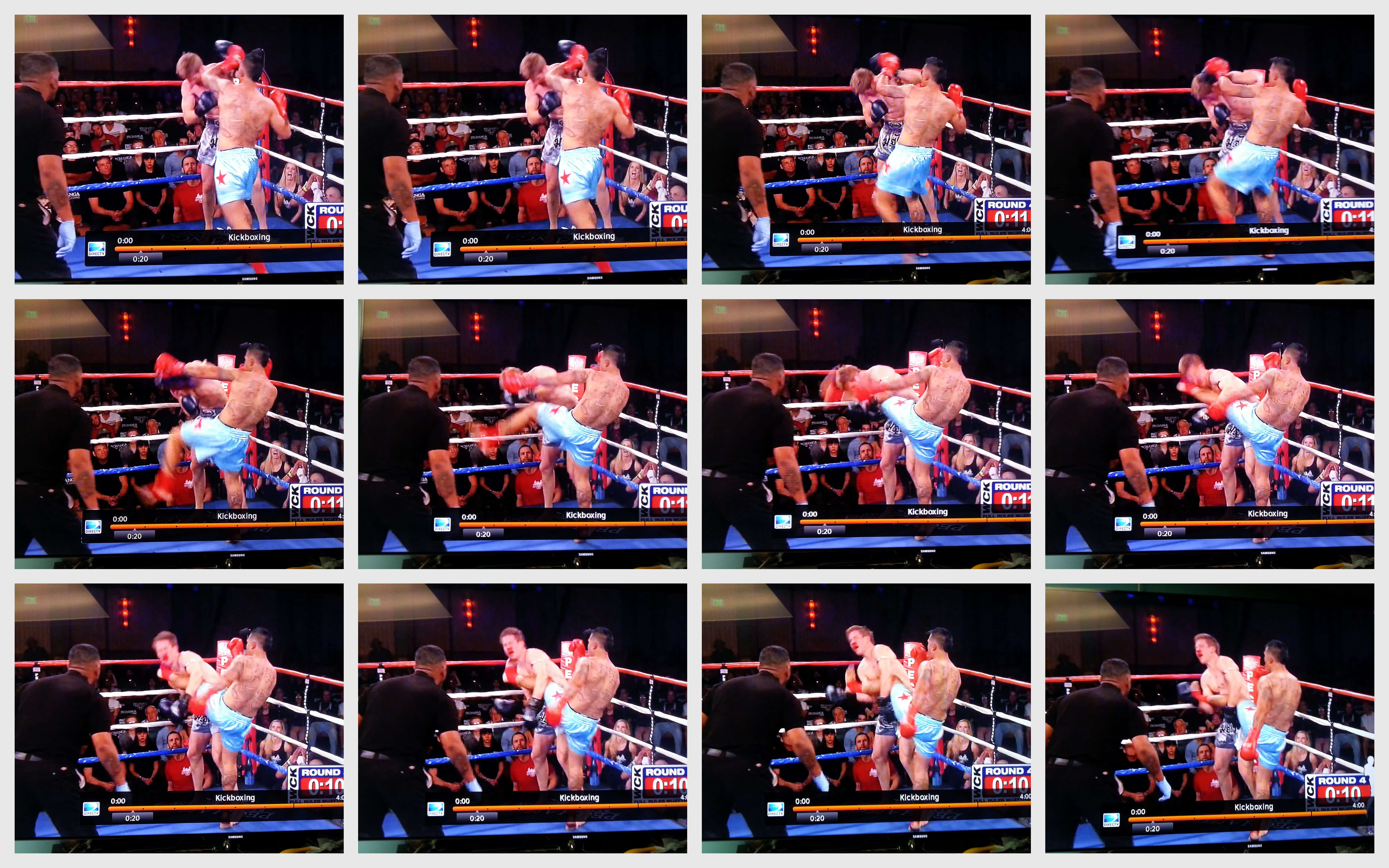 The final blow of the fight. A head kick landed by Garcia puts an exclamation mark on this WCK Title Fight.