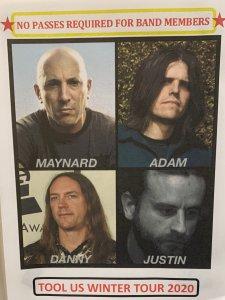 Tool Band Pic 2020 Tour
