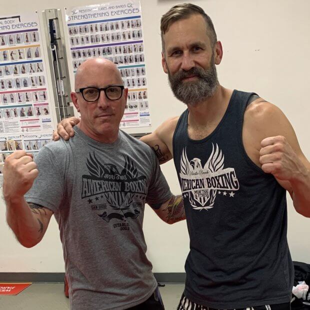 Kru Dave after training Grammy Award Winning Artisit Maynard James Keenan, lead singer for bands TOOL, A Perfect Circle and Puscifer.