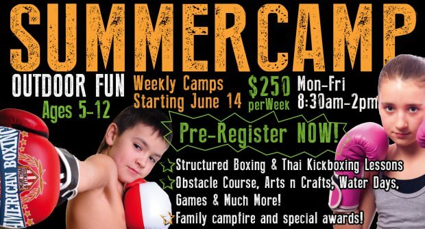 San Diego boxing and kickboxing Summer camp for girls and boys.